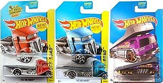 Fast-Bed Hauler & Back Slider Trucks Hot Wheels 2014 Variant Set #105 Off-Road & HW City #2 /250 in PROTECTIVE CASES