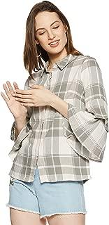 VERO MODA Women's Checkered Loose Fit Top