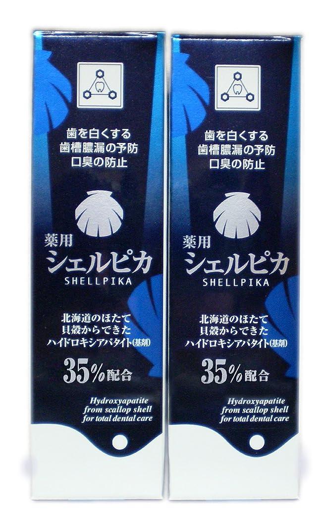 中性胃誓い薬用ハミガキ シェルピカ 2本セット