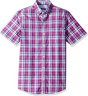 IZOD Men's Saltwater Breeze Plaid Short Sleeve Shirt