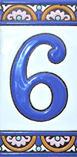 House numbers 6 inch. Handpainted house number tiles for signs, addresses and names. Address numbers for houses. House address numbers and letters. Design ARCO GRANDE 5,86