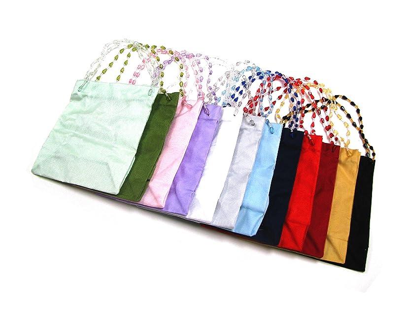Linpeng Beaded Handles Sheer Ribbon Gift Bag, Medium
