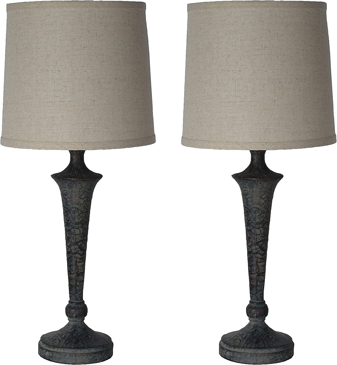 Urbanest Set of 2 Jacob Columbus Mall Max 41% OFF Table Bronze Lamps Ash