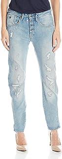 G-Star RAW Womens D02119-7889-6413 Women's New Arc 3D Buttondown Low Rise Boyfriend Fit Jean Jeans - Blue