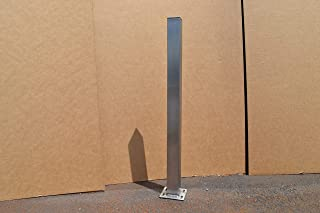 Brushed Stainless Metal Post Table Legs - Any Size