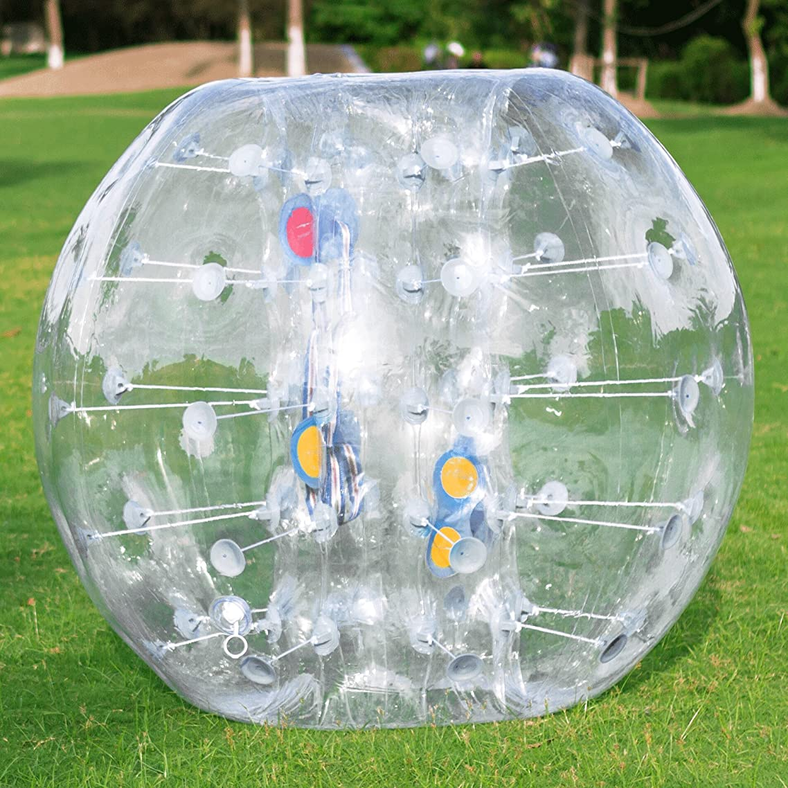 Happybuy Inflatable Bumper Ball 1.2M/4ft 1.5M/5ft Diameter Bubble Soccer Ball Blow Up Toy in 5 Min Inflatable Bumper Bubble Balls for Adults or Child