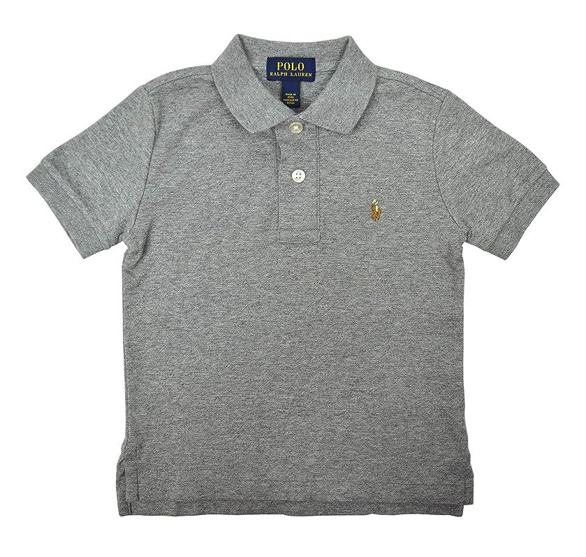 Polo Ralph Lauren Boys 100% Cotton Soft Knit Tow Button Polo Shirt Heather Grey