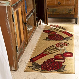 Best wine and grape kitchen rugs Reviews