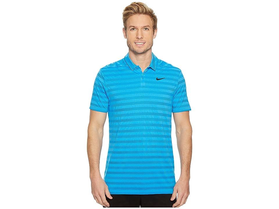 Nike Golf Breathe Stripe Polo OLC (Photo Blue/Black) Men