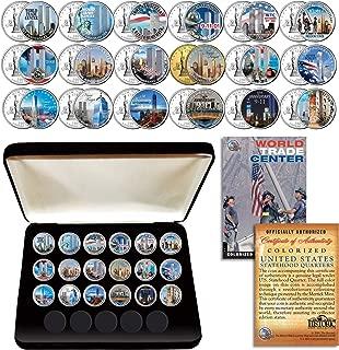 WORLD TRADE CENTER WTC * Anniversary * Complete NY Quarters 18-Coin Set w/BOX