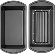 Wilton Perfect Results Premium Non-Stick Bakeware Meatloaf Pan Set, Reduce The Fat and Kick Up The Flavor, 2-Piece Set, 9....