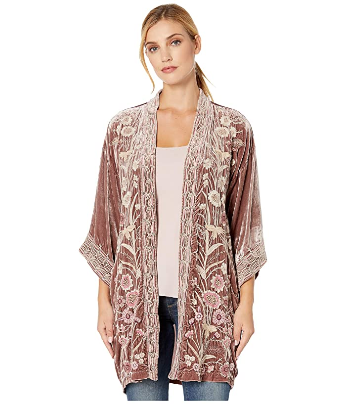 Vintage Coats & Jackets | Retro Coats and Jackets Johnny Was Rosa Velvet Kimono Vintage Rose Womens Clothing $320.00 AT vintagedancer.com