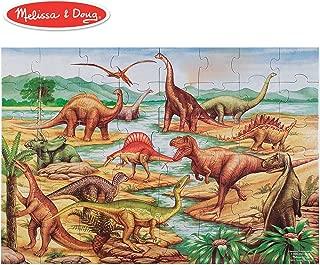 Melissa & Doug Dinosaurs Floor Puzzle, Extra-Thick Cardboard Construction, Beautiful Original Artwork, 48 Pieces, 2' x 3' (Renewed)