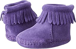 Minnetonka Kids Suede Back Flap Bootie (Infant/Toddler)