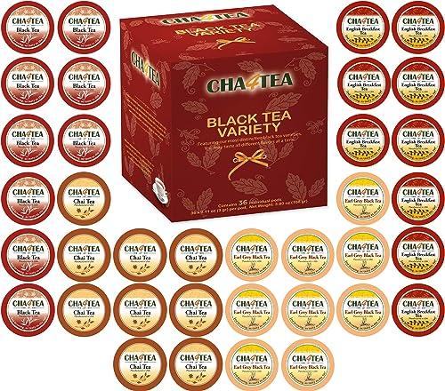 high quality Cha4TEA 36-Count Assorted Black Tea Sampler for Keurig K-Cup wholesale Brewers (Black Tea, online English Breakfast, Chai Black Tea, Earl Grey) sale
