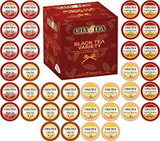Cha4TEA 36-Count Assorted Black Tea Sampler for Keurig K-Cup Brewers (Black Tea, English Breakfast, Chai Black Tea, Earl Grey)