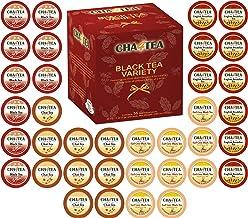 Cha4TEA 36-Count Assorted Black Tea Sampler for Keurig K-Cup Brewers (Black Tea, English Breakfast, Chai Black Tea, Earl G...