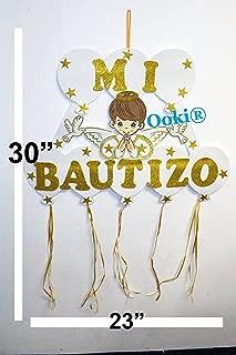 Gold Halo Mi Bautizo Angel Wings Figure Boy Girl 30
