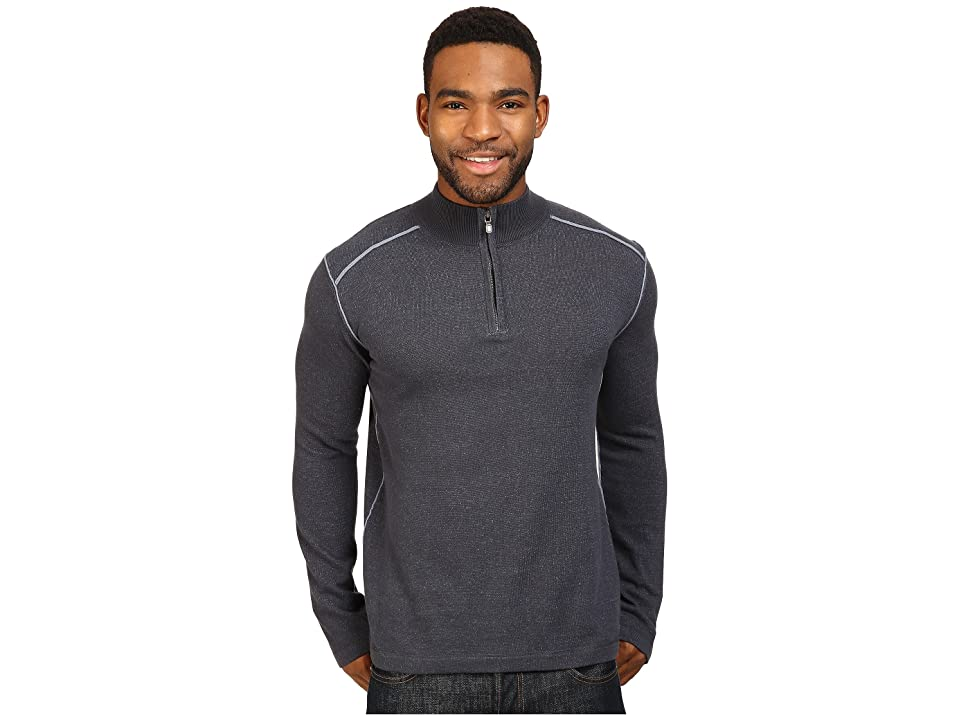 Ecoths Noah Zip Neck Sweater (Ombre Blue/Flintstone) Men