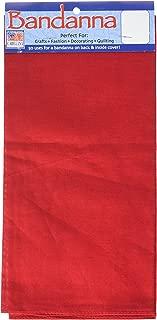 Carolina B22SOL-199 Hav, A, Hank Solid Bandanna, 22-Inch by 22-Inch, Red