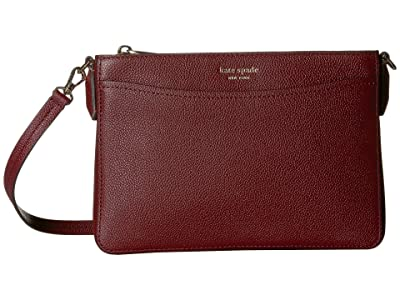 Kate Spade New York Margaux Medium Convertible Crossbody (Cherrywood) Handbags