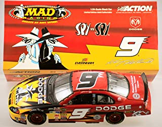 Kasey Kahne #9 Mad Magazine Spy vs Spy Dodge Dealers Dodge Intrepid 1/24 Scale Action Racing Collectables Only 9828 Made Yellow Rookie Stripes Hood Trunk Opens