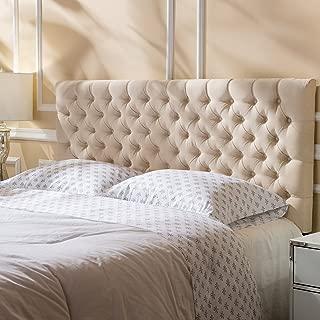 Christopher Knight Home Jezebel Fabric Queen/Full Headboard, Beige