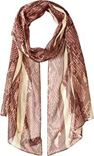 Women's Python Stripe Oblong Scarf, Rosewood, One Size