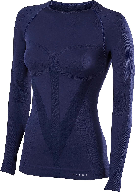 Falke Womens Tight Fit Long Sleeve Round Neck Shirt - Dark Night Navy