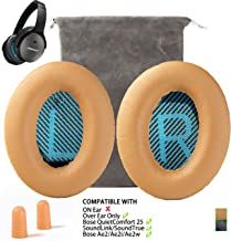 Replacement for Bose QC25 Headphone Ear Pads Cushion Muffs Compatible with QuietComfort 25, Ae2, Ae2i, Ae2w, SoundLink & SoundTrue (Over Eear ONLY), Khaki