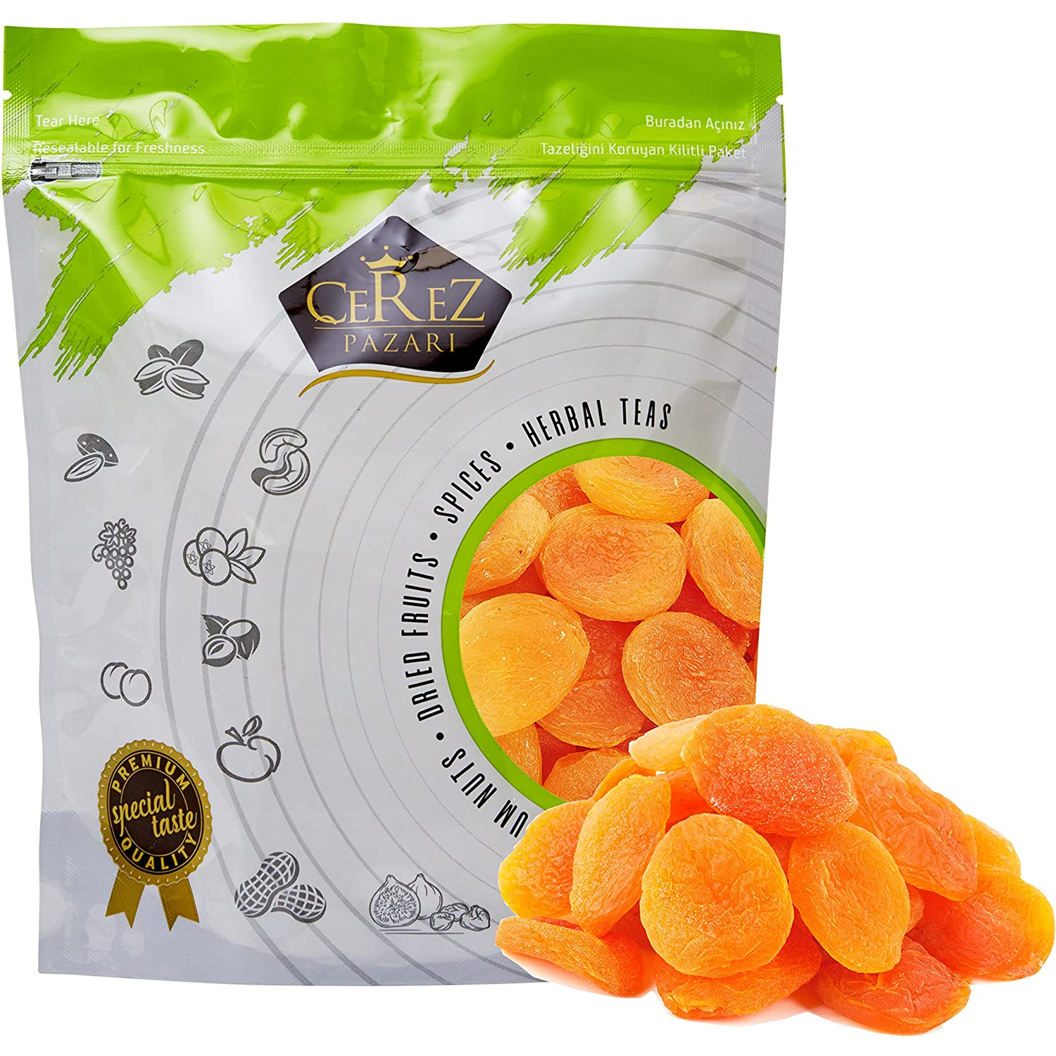 Cerez Pazari Dried Apricots Special sale item Turkish Extra Jumbo in lbs 1.5 Size online shop