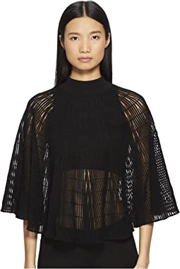 Sonia Rykiel Shell Pleats Zigzag Cape