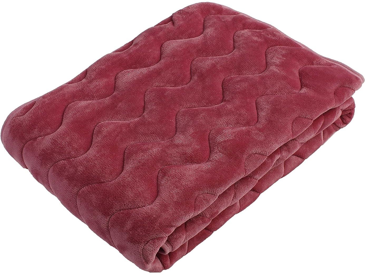 交じるなぜ冷える西川(Nishikawa) ピンク セミダブル 120×205㎝ 敷きパッド 竹炭入りわた使用 アルミシート入り 洗える 2QC7553 SD