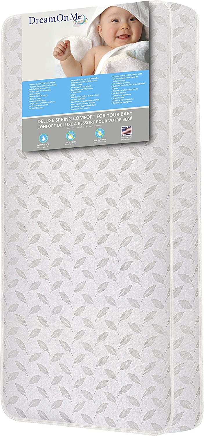 Dream On Me 132 Premium Coil Inner Spring Crib and Toddler Bed Mattress