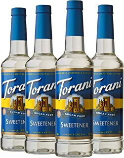 Torani Sugar Free Syrup, Sweetener, 25.4 Ounces (Pack of 4)