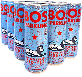 BOS Sparkling Unsweetened Iced Tea (Blueberry Jasmine)