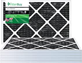 FilterBuy Allergen Odor Eliminator 20x25x1 MERV 8 Pleated AC Furnace Air Filter with Activated Carbon - Pack of 4-20x25x1