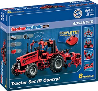 Fischertechnik Tractor Set IR control– Costruye tu propio Tractor Teledirigido con este Divertido Juguete Educativo.