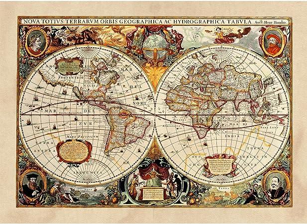 Cartina Geografica Antica.Poster Tela Canvas Antica Mappa 1646 Mondo World Cartina Geografica Mondo Arredamento 30x40cm Tela Canvas Amazon It Casa E Cucina