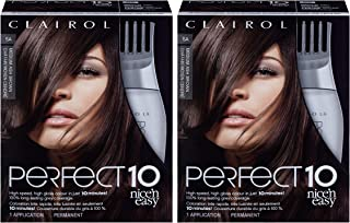 Clairol Perfect 10 By Nice 'N Easy Hair Color Kit (Pack of 2), 005A Medium Ash Brown, Includes Comb Applicator, Lasts Up T...