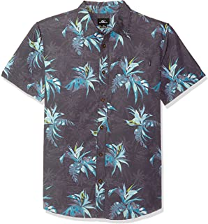 O'NEILL Men's Casual Standard Fit Short Sleeve Woven Button Down Shirt