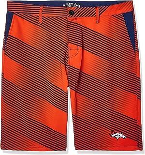 FOCO NFL Denver Broncos Diagonal Stripe Walking Shorts, Team Color, Large/Size 36