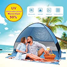 Gupamiga Beach Tent,Tents for Camping, Pop Up Tent Sun Shade Instant Tent Sun Shelter Pop Up with Tent Stakes Waterproof Portable UPF 50+ UV Protection Tent for Outdoor Family Camping Hiking Fishing