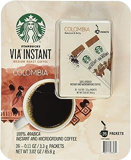 Starbucks 星巴克 VIA 速溶中度烘焙哥伦比亚咖啡