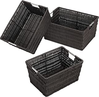 set of 3 wicker storage baskets