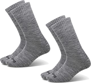 Woolly Clothing Merino Wool Outdoor Sock - [ 2 Pairs ] - Moisture wicking, anti-odor, go anywhere sock