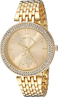 U.S. Polo Assn. Womens Quartz Watch, Analog Display And Stainless Steel Strap - USC40216