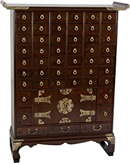 Oriental Furniture Korean Antique Style 49 Drawer Apothecary Chest
