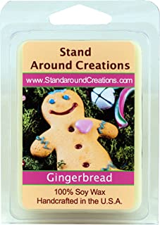 100% All Natural Soy Wax Melt Tart - Gingerbread: A Spiced Cookie, with a Freshly Baked Character with hints of Vanilla, Nutmeg, Cinnamon and Ginger. - 3oz - Naturally Strong Scented