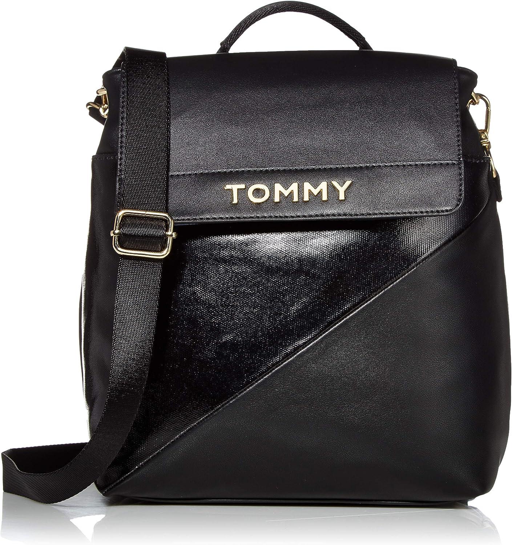 現金特価 Tommy Hilfiger 情熱セール Cassie Flap Black Backpack